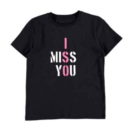 I Miss You ISO T-shirt - Black