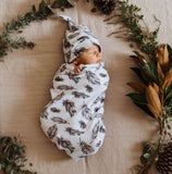 Quill Swaddle Sack and Beanie Set