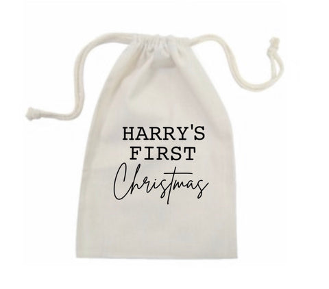 Personalised Name First Christmas Bag