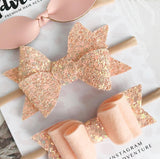 Sprinkles and Adventure Blush Bow Set