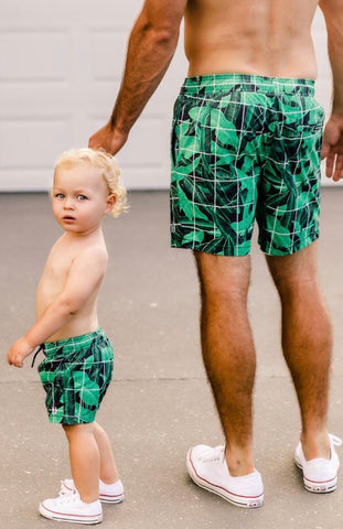 Beau Hudson Jungle Grid Boardshorts