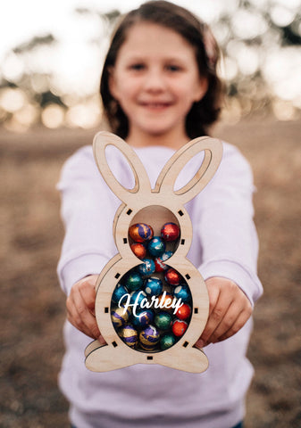 Personalised Bunny Egg Holder - Standing