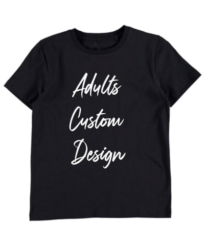 Custom Design Adults T-shirt - Black