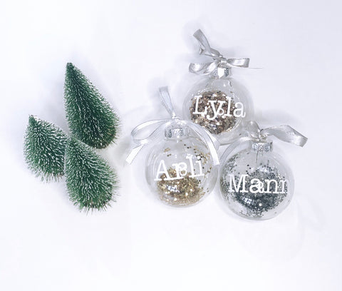 Personalised Christmas Bauble - Plain Font