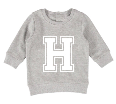 Personalised Varcity Jumper - Grey