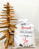 Special Delivery Santa Sack - Christmas Font