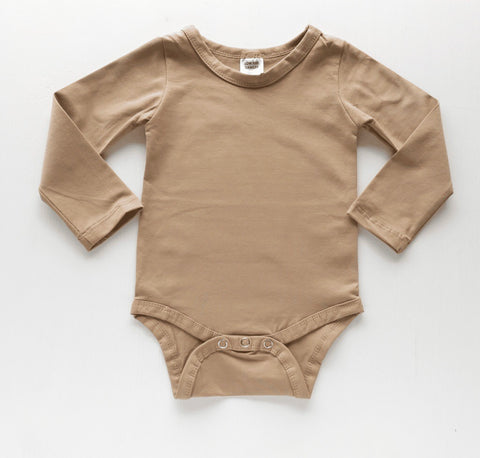 Latte Long Sleeve Onesie - BYCS Original