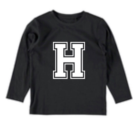 Personalised Varsity Top - Black
