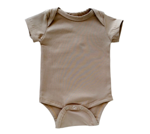 Latte Short Sleeve Onesie - BYCS Original