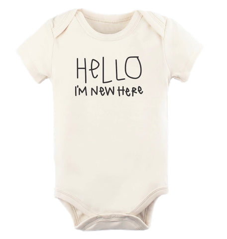 Hello I'm New Here - Organic Onesie