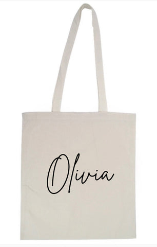 Personalised Library Bag - Fancy Font