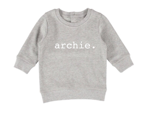 Personalised Name Jumper - Grey