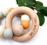 Natural Silicone and Beech Wood Teether