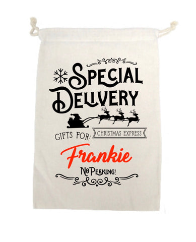 Personalised Special Delivery Sack