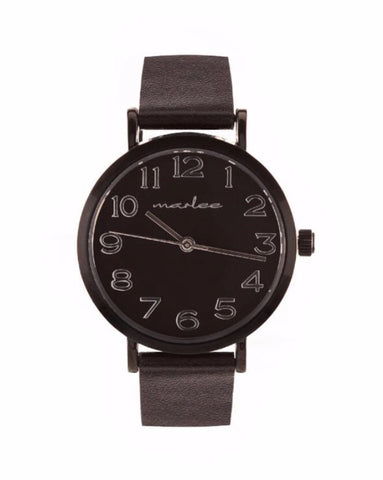 Marlee Watch Co Minimalist Black Watch