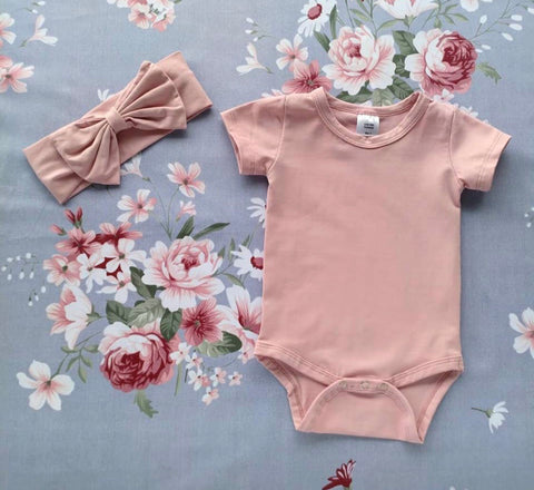Dusty Pink Short Sleeve Onesie - BYCS Original