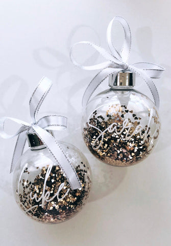 Personalised Christmas Bauble-Fancy Font