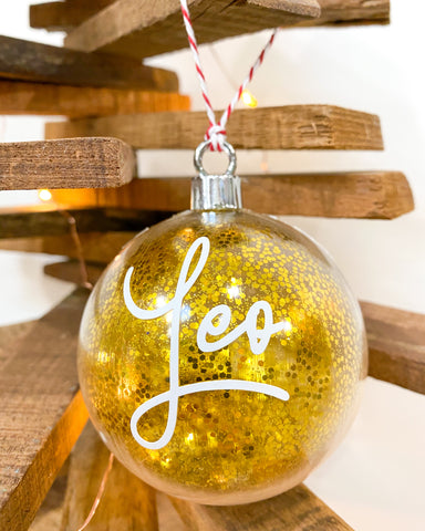 Personalised Bauble With Twine - Christmas Font