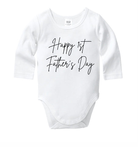Happy 1st Father's Day Style 1 Onesie