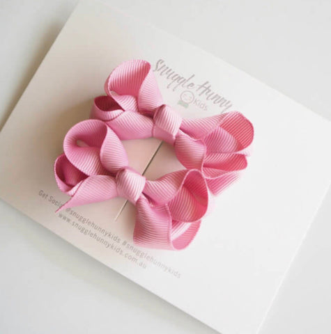 Dusty Pink Clip Bow