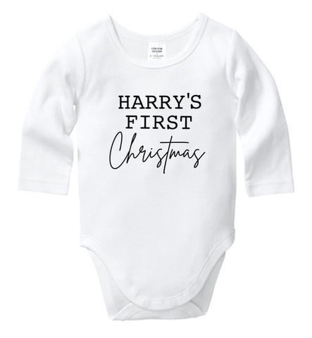Personalised First Christmas Onesie