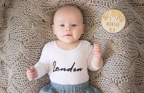 Personalised Name Baby Onesie