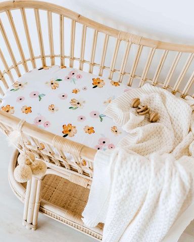 Poppy Bassinet Sheet | Change Cover