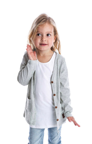 Beau Hudson Light Grey Cardigan