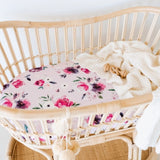 Floral Kiss Bassinet Sheet | Change Cover