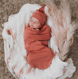 Clay Swaddle Sack and Beanie Set