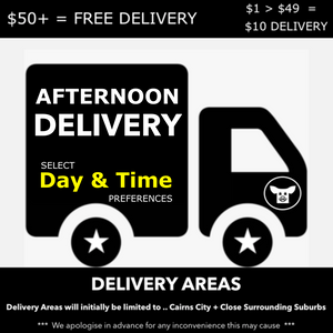 AFTERNOON DELIVERY - PLEASE CLICK ON THIS ICON AND SELECT YOUR DELIVERY ( DAY & TIME ) PREFERENCE FROM THE AVAILABE OPTIONS AND ADD TO YOUR CART BEFORE YOU CHECKOUT >>> DELIVERY FEES ( IF ANY ) ARE AUTOMATICALLY PROCESSED AT CHECKOUT.