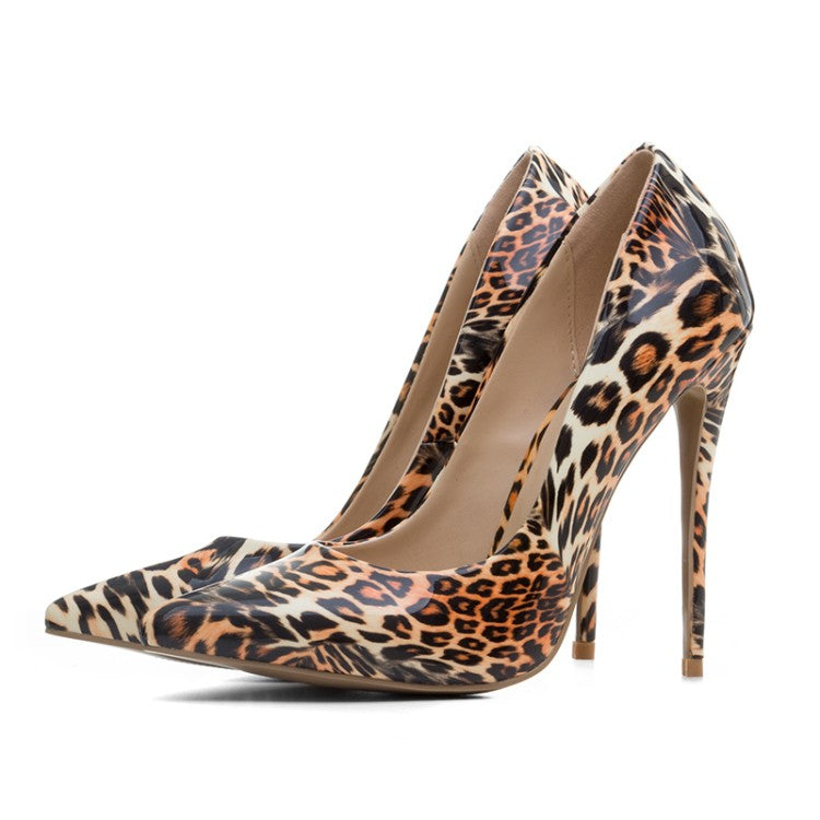 Leopard-print Pointy Toe Pumps - SheBeuty.com ...