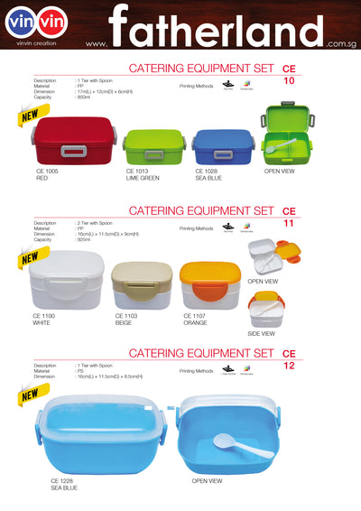 CATERING EQUIPMENT SET VINVIN CREATION CATALOG 101