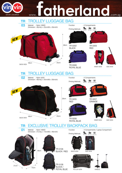 TROLLEY LUGGAGE BAG VINVIN CREATION CATALOG 12