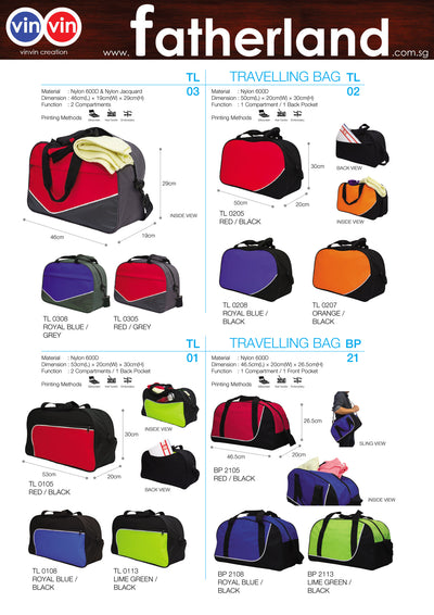 TRAVELLING BAG VINVIN CREATION CATALOG 17