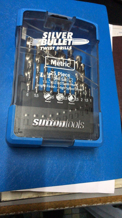 SUTTON SM3 25 PCS DRILL BIT SET 1.0MM to 13mm