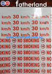 No smoking outdoor sticker with lamination