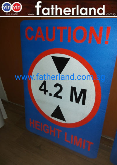 CAUTION 4.2M HEIGH LIMIT SIGNAGE
