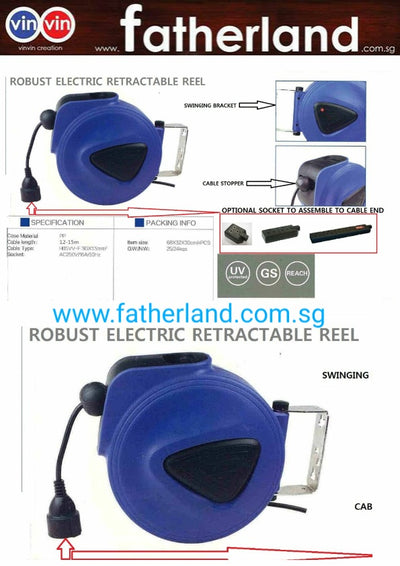 Robust Electric Retractable Reel Vin-Rn001