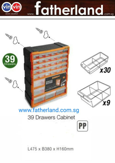 TAXTIC 39 Drawers Cabinet Box