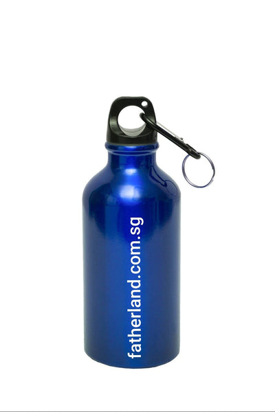 BLUE COLOURED WATER BOTTLE WITH LOGO PRINT CATALOGS