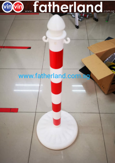 Queue Pole stand PVC Outdoor with Hook (  CV19 series )