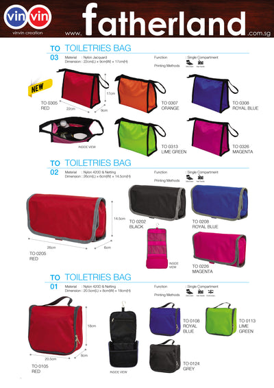 TOILETRIES BAG VINVIN CREATION CATALOG 22