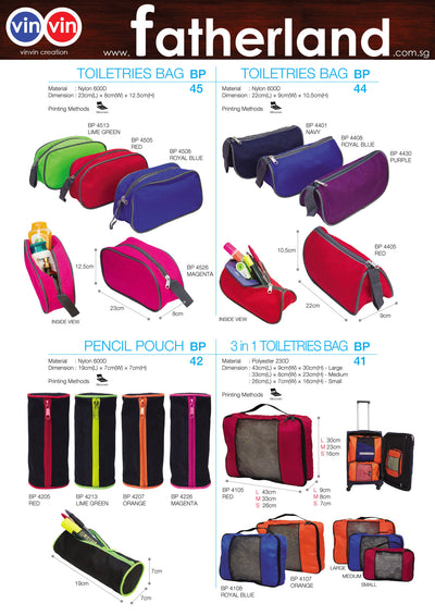 TOILETRIES BAG VINVIN CREATION CATALOG 23