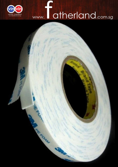 3M PE FOAM TAPE WHITE 8M # 1600