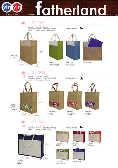 JUTE BAG VINVIN CREATION CATALOG 50