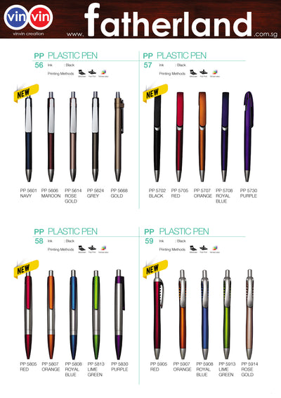 PLASTIC PEN VINVIN CREATION CATALOG 58