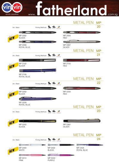 METAL PEN VINVIN CREATION CATALOG 63