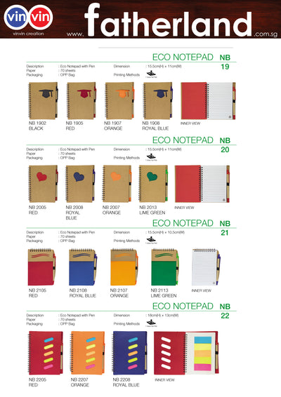 ECO NOTEPAD VINVIN CREATION CATALOG 65
