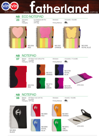 ECO NOTEPAD VINVIN CREATION CATALOG 66